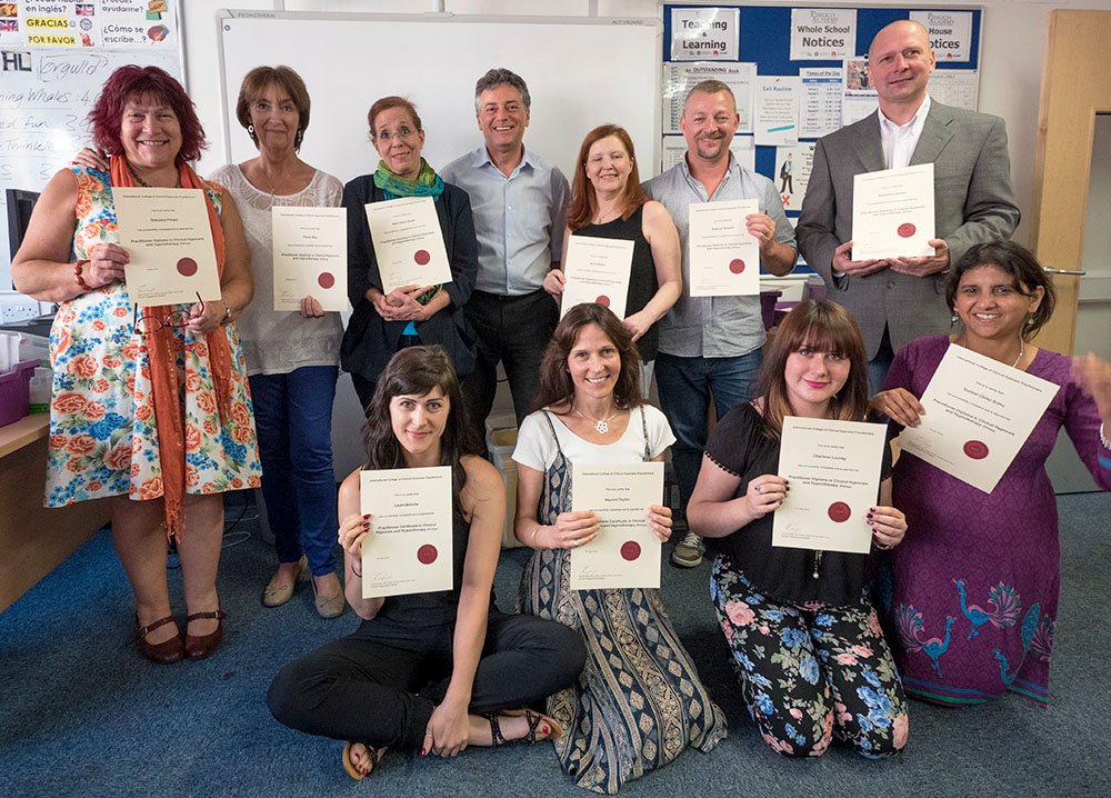 ICCHP Hypnotherapy Training Students